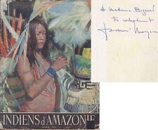 C1 MAZIERE Les INDIENS D AMAZONIE Guyane OYANA Envoi DEDICACE Dominique DARBOIS