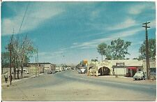 Looking West on Highway 60 in Springerville AZ Postcard