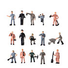 25pcs 1:87 HO Scale Miniature People Worker Figurines for Train Model Scener I-