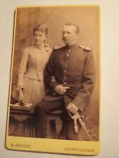 Dresden - 1886 - Clara geb. Fischer & Kuno Zimmermann als Soldat IR 102 / CDV