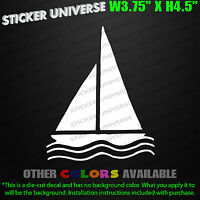 SAILBOAT Vinyl Car Window Decal Bumper Sticker Ocean Sea Nautical Sailing 0013