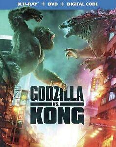 GODZILLA VS KONG(BLU-RAY+DVD+DIGITAL)W/SLIPCOVER NEW FREE SHIPPING