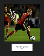 KEVIN DE BRUYNE #3 - BELGIUM Signed 10x8 Mounted Print - FREE DELIVERY