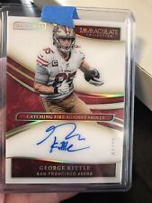 George Kittle 2020 PANINI Immaculate Moments On Card Auto 7/25 Autograph 49ers