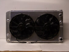 1970 1971 1972 Chevelle aluminum radiator with ls conversion with shroud & fans