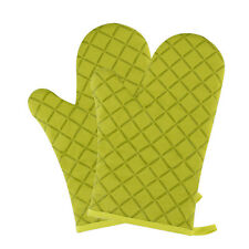 Heat Resistant Silicone BBQ Gloves Cooking Grill Barbecue Kitchen Oven Mitt 2PCS