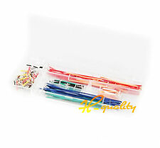 10PCS 140pcs Solderless Breadboard Jumper Cable Wire Kit Box DIY For Arduino