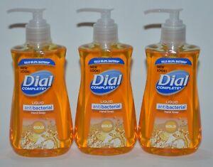 LOT OF 3 DIAL COMPLETE GOLD LIQUID HAND SOAP WASH ANTIBACTERIA 7.5 OZ PUMP