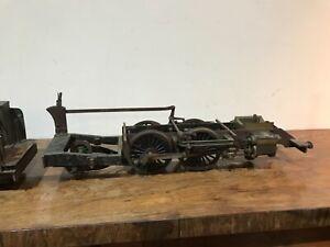 Steam locomotive scratch built garden rail with tender