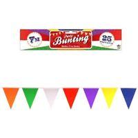 7m Triangular Pennant Nylon Rainbow Bunting Fete  25 Flags 7 Colours PRIDE
