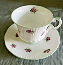 Vintage Elizabethan Roses Bone China Tea Cup & Saucer England Pretty!
