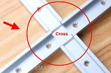 4PCS Aluminum T-track T-slot Cross Band Saw,Router Table, Table Saw Slot