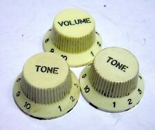 Rare 1984 Fender Squire Japan JV Strat Series Knob Set MIJ Knobs Stratocaster