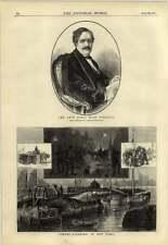 1878 James Hain friswell Street limpieza en Nueva York basura carros Lancha