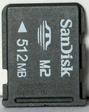 Sandisk 512MB M2 memory card.