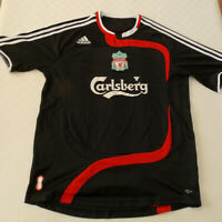 Liverpool FC Away 3rd Kit Shirt Jersey 2007-2008 Black M Medium