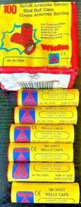 Wicke Pink Roll Paper Caps 12 Rolls Of 100=1200 Shots Gun Toy Not Kids Vintage