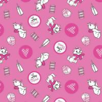 ARISTOCATS Fabric Fat Quarter Cotton Craft Quilting MARIE Disney Fashion Trend