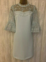 Ted Baker Raechal Blue French Floral Lace Cruise Occasion Party Dress 1 UK 8 36