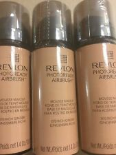 3 X Revlon PhotoReady Airbrush Mousse Makeup Foundation RICH GINGER New + Sealed