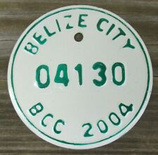 BELIZE CITY, BELIZE Motorcycle License Plate Expired 2004 - 04130
