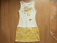 Vintage Christian Dior Embroidered Floral Women's Tank Dress Blouse Tunic UK 14