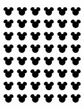 "48 MICKEY MOUSE HEAD FACE EARS ENVELOPE SEALS LABELS STICKERS 1.2"" ROUND"