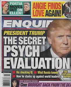 Donald Trump National Enquirer Magazine Angelina Jolie Ellen DeGeneres Cher 2017