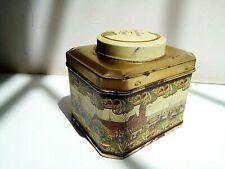 Tin box from natural Ceylon tea vintage collection