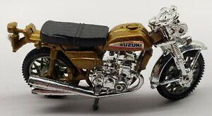 VINTAGE SUZUKI 750 DIE-CAST MOTORCYCLE HONG KONG TOY ( HANDLE BARS BROKE )