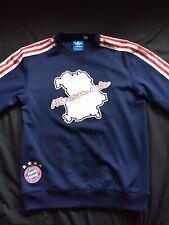Adidas Fc Bayern Munich Sweater Blue/Red Warmups Street Wear Authentic