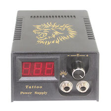 SALE Black LCD Digital Display Tattoo Machine Power Supply with Cable US STOCK