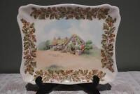 Vintage Royal Doulton Sandwich / Cake Plate - Old English Inns - Crab Inn -Vgc