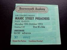 Manic Street Preachers ticket Bournemouth Academy 19/10/92 Richey Edwards