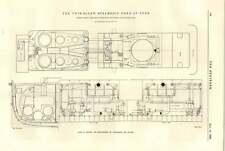 1894 NAVE A VAPORE Duca di York piano MOTORI accordo miglioramenti West India DOC