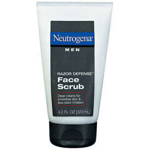 Neutrogena Men Razor Defense Face Scrub 4.2 Oz (Pack Of 3 Tubes)