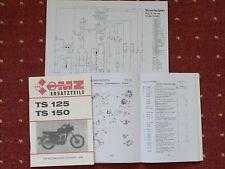Ersatzteilliste MZ TS 125 150 Teileliste Ersatzteilkatalog Part List Schaltplan