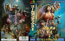 - Golden Axe 2 II Mega Drive Pal Replacement Box Art Case Insert Cover Only
