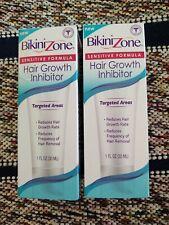 Bikini Zone Sensitive Formula Hair Growth Inhibitor 1 fl oz Bundled lot of 2 box