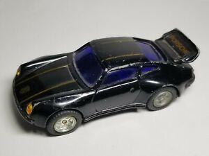 """Unbranded Vintage PORSCHE 930 TURBO - Black Pull Back 1/48 Diecast Car 3.5"""""""
