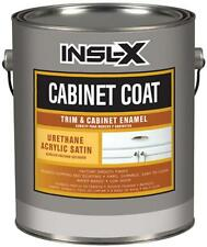 Insl-X 1gal Satin White Cabinet Coat Water Based Paint CC4510092-01