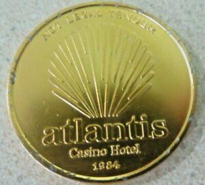 1984 Atlantis Casino Hotel Reel Winners Club Token Not Legal Tender