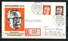 """Berlin, FDC + Einschreiben """"Heinemann"""" MiNr. 364 + 367 ESSt Berlin 08.04.1971"""
