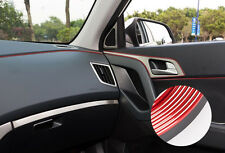 5m Red Car Styling Strips Trim Decals Interior Door Sticker Moulding Line Decor