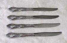 Oneida HUNTINGTON English Gardens 4 HH DINNER KNIVES Rogers Deluxe Stainless USA