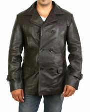 Leather Regular Size Military Coats & Jackets for Men