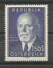 Österreich 1953 80. Geburtstag von Theodor KÖRNER **