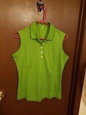 Nike Golf Green Sleeveless Shirt Tank Top  Womens M 8-10 Fit Dry