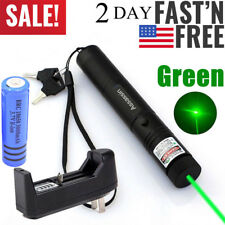 900Miles Green Visible Beam Laser Pointer Rechargeable Lazer Pen+18650+Charger