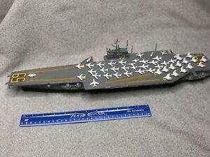 Vtg AURORA Plastic Built Model Kit~USS Aircraft Carrier FORRESTAL